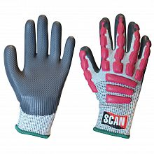 Scan Waterproof Latex Gloves Size 9 Large Personal Protective Equipment (ppe)